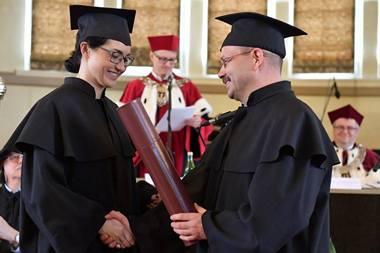 Odebranie dyplomu
